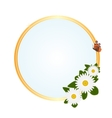 Frame with daisies vector