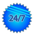 Big blue button labeled 247 vector