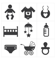 Baby stuff icon vector