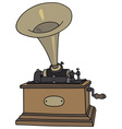 Old phonograph vector