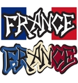 France word graffiti different style vector
