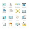 Online education icon set vector