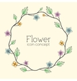 Retro flower background concept vector