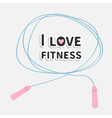 Skipping jumping rope i love fitness sport back vector