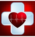 Heart and heartbeat symbol eps 8 vector