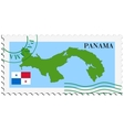 Mail to-from panama vector