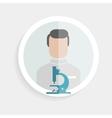 Round paper icon researcher successful man vector
