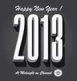 Happy new year 2013 retro vector