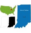 Indiana map vector