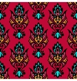 Red seamless floral damask vector