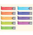Set of colorful bookmarks infographics background vector