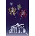 New year in berlin vector