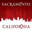 Sacramento california city skyline silhouette vector