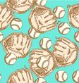 Baseball ball glove vector
