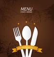 Restaurant menu premium quality vector