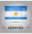 Geometric polygonal argentina flag vector