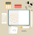 Business concept infographics background vector