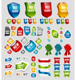 Design elements tags stickers ribbons vector