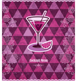 Cocktail vintage mosaic pattern vector
