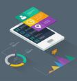 Mobile application concept vector