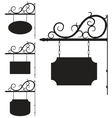 Wrought iron signs for old-fashioned design vector