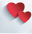 Stylish valentine background with 3d red heart vector