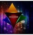 Lighten triangle on the disco colored abstraction vector