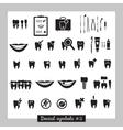 Set of dentistry symbols part 2 vector