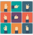 Hands flat icon vector