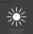 Sun premium icon white on dark background vector