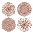 Set of four hand drawn ornaments vector
