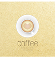 Coffee cup against paper background vector