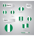 Nigeria icon set of flags vector