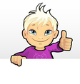 Boy showing thumb vector