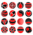 Round abstract icons vector
