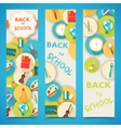 Back to school abstract background of flat icons vector