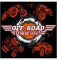 Emblem with off-road cars vector