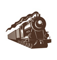 Vintage steam train locomotive vector