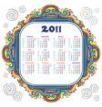 Floral calendar for 2011 vector