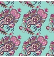 Hand drawing ornate seamless flower paisley design vector
