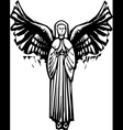 Angel with wings vector