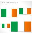 Ireland flag template vector