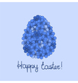 Easter greeting card with flowers vector