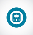 Fitness scales icon bold blue circle border vector