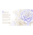 Romantic background with blue roses vector
