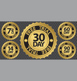 30 day free trial badge vector