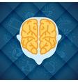 Modern business brain concepts in flat design vector