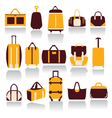 Icons set of baggage theme collection of travel vector
