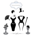 Gentleman and lady symbols vintage style vector