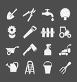 Set icons of garden and farm vector